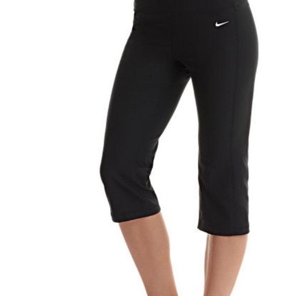 Nike Pants Jumpsuits Fit Dry Workout Athletic Yoga Crop Capris S Poshmark